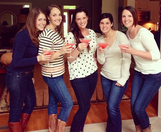 Enjoying our margaritas and relaxing at Alexa's (from left Meagan, myself, Hannah, Alexa, and Brooke)