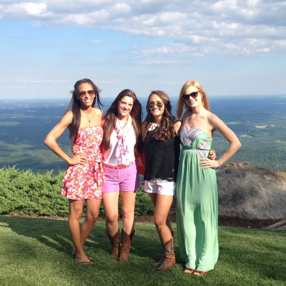 View from the top (From left Alicia, Hannah, moi, and Kari)