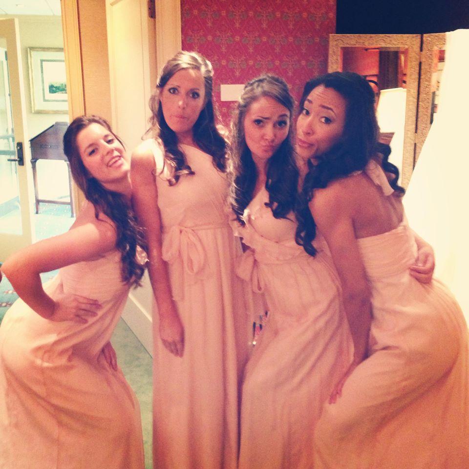 Bridesmaids behaving badly