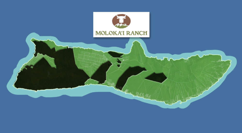 The land in black is owned by Moloka'i Ranch.