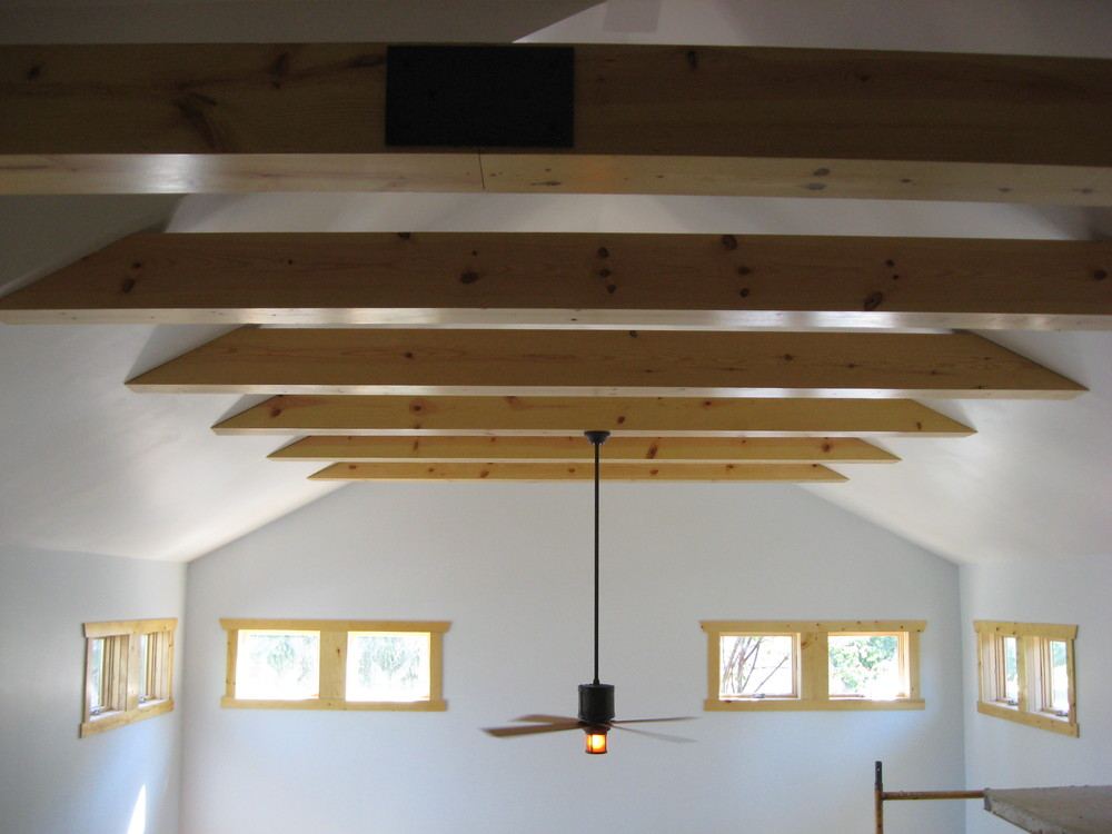 During:  checking out those beautiful collar ties over the loft and great room.