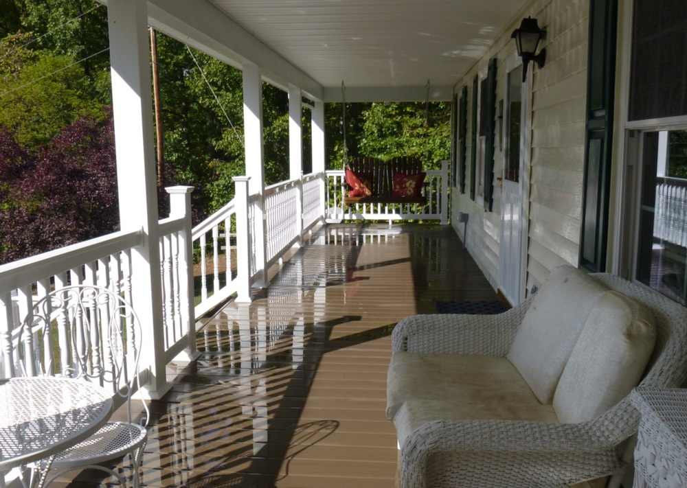 Because of the deep overhangs of the porch, the house stays cooler in the summer now.