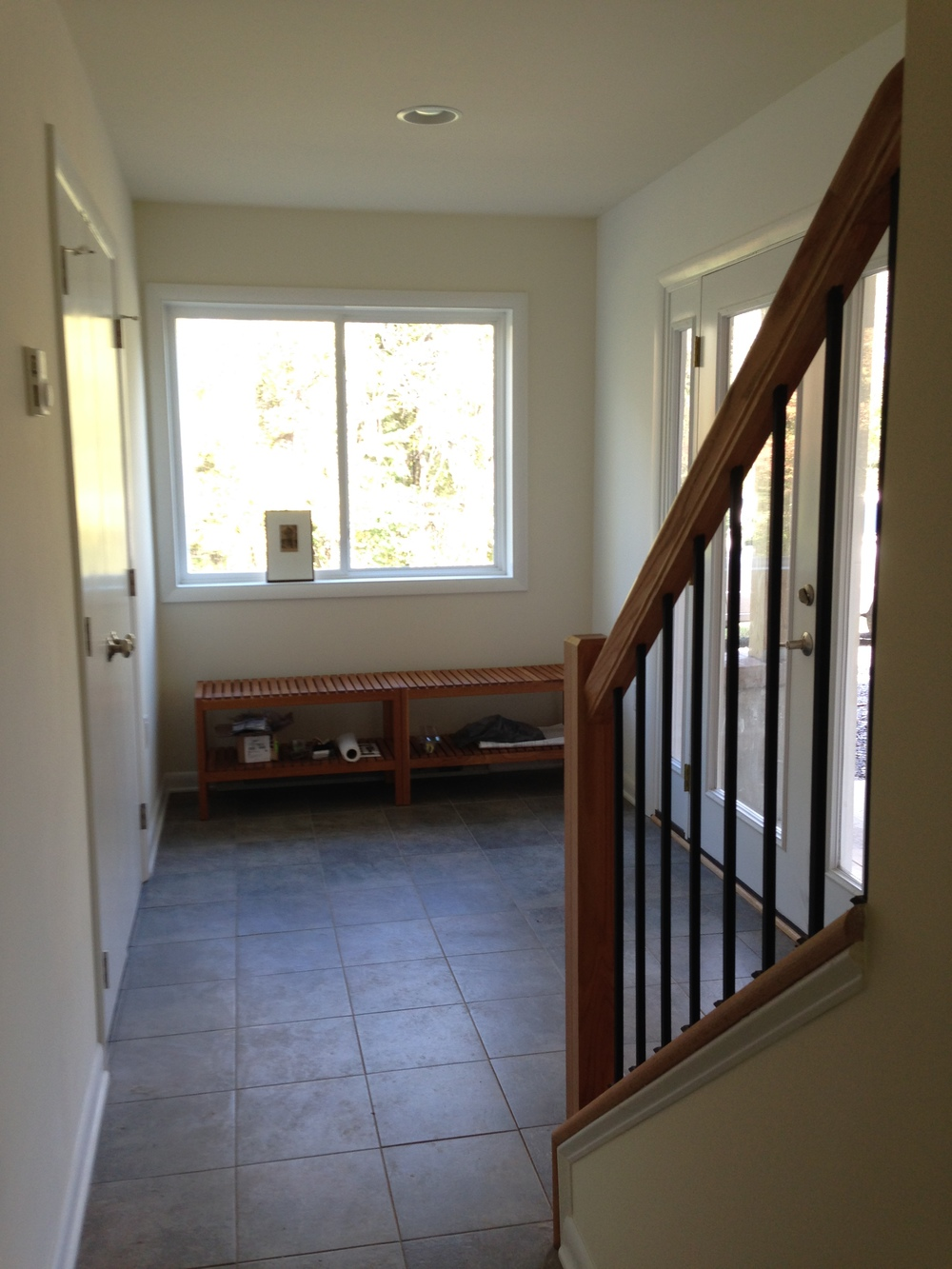 Front Foyer Addition : Unsplitting a split foyer in shepherdstown — fine line