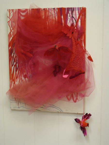 Red Netting Entangled by Lacey Richter