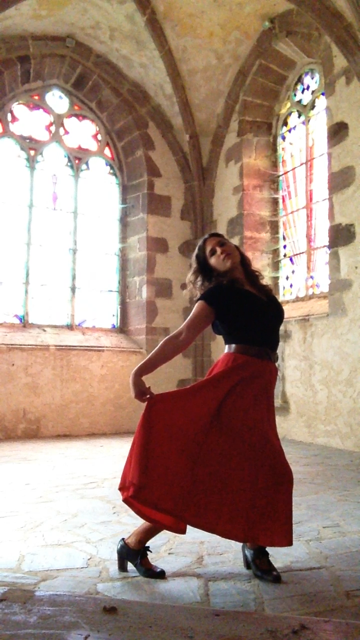 Dancing in the sanctuary.