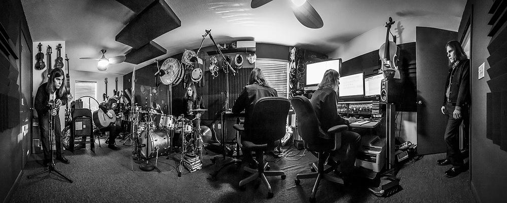 Graham in his home studio in Austin, TX.