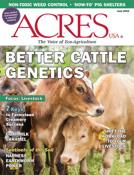 Acres USA cover for June 2015
