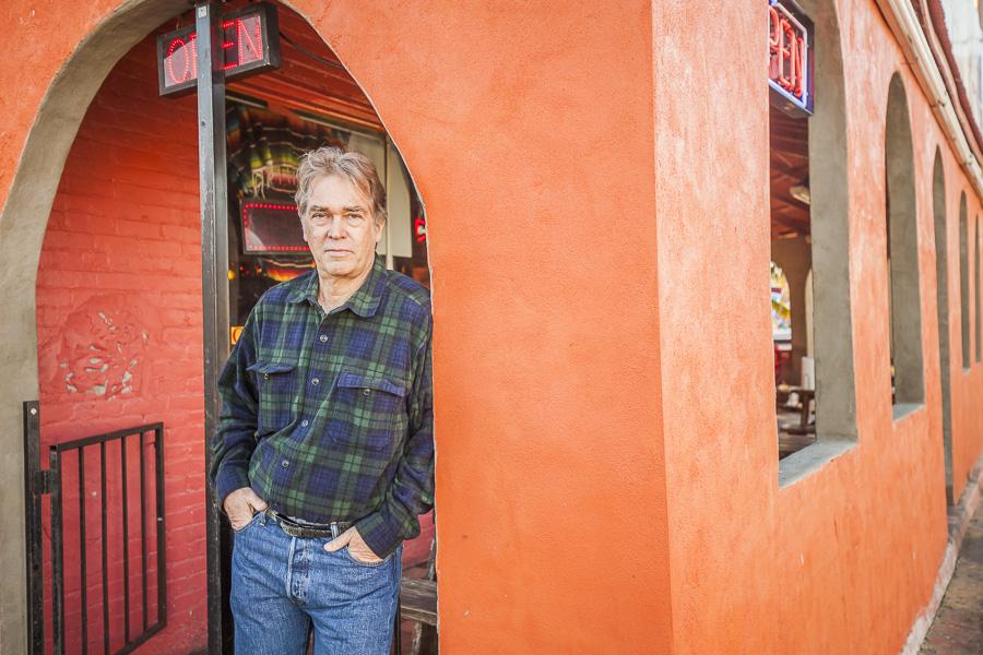 Author José Skinner on East Cesar Chavez, Austin, TX.