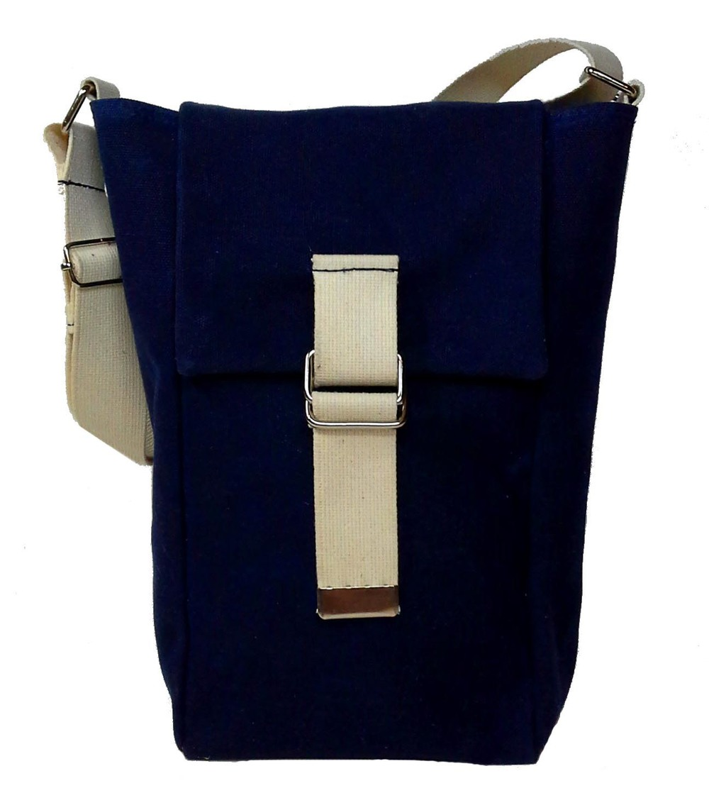 Navy Double Tote