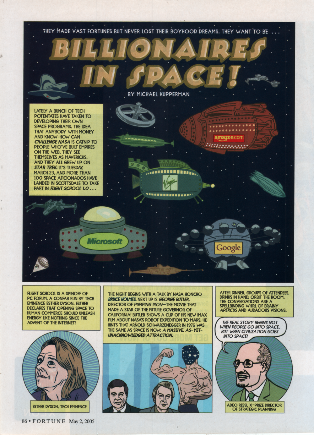 """Billionaires in Space""  Fortune , 2005"