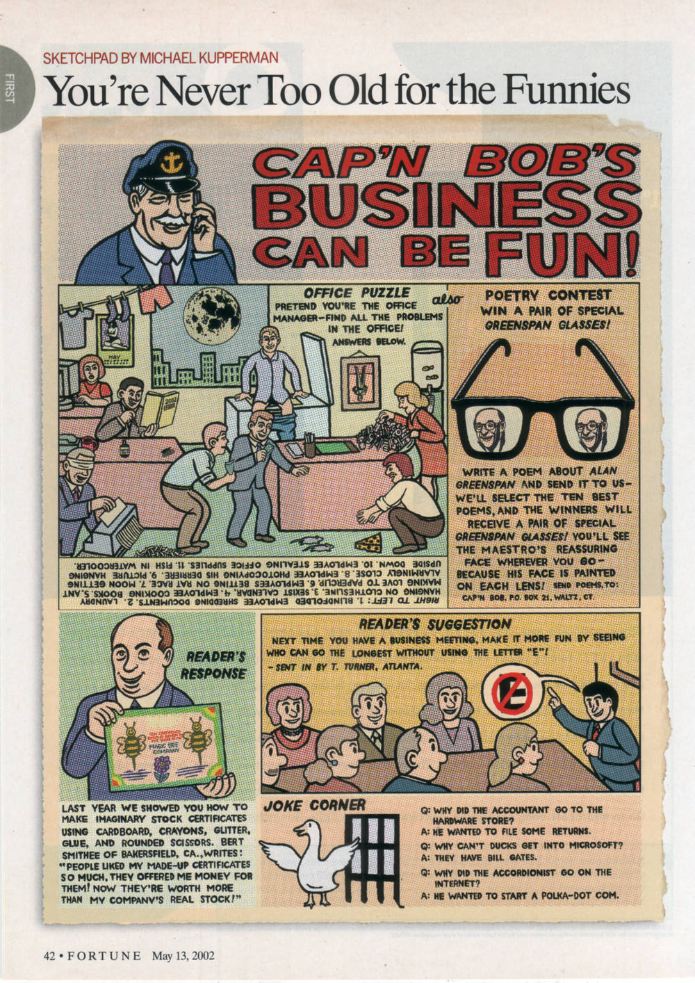 """Cap'n Bob's Business Can Be Fun""  Fortune,  2002"