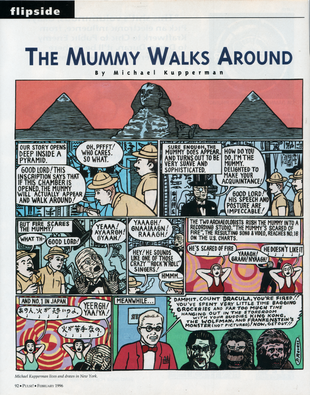 """The Mummy Walks Around""  Tower Pulse , 1996"