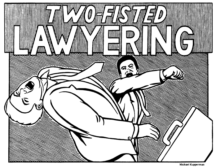 """Two-Fisted Lawyering""  The New York Times,  1995"