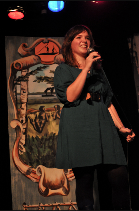 Kate Beaton, performing Twain-related material.  Photo by Edwina Hay