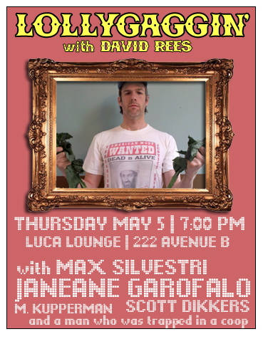 A comedy show hosted by David Rees.