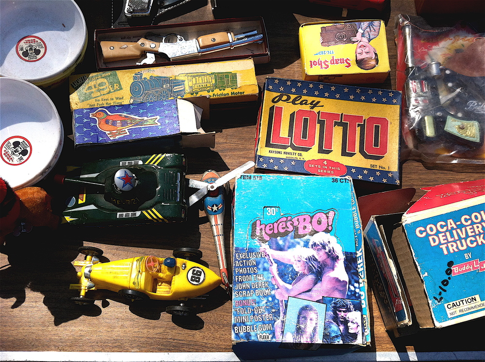 Flea market goods.
