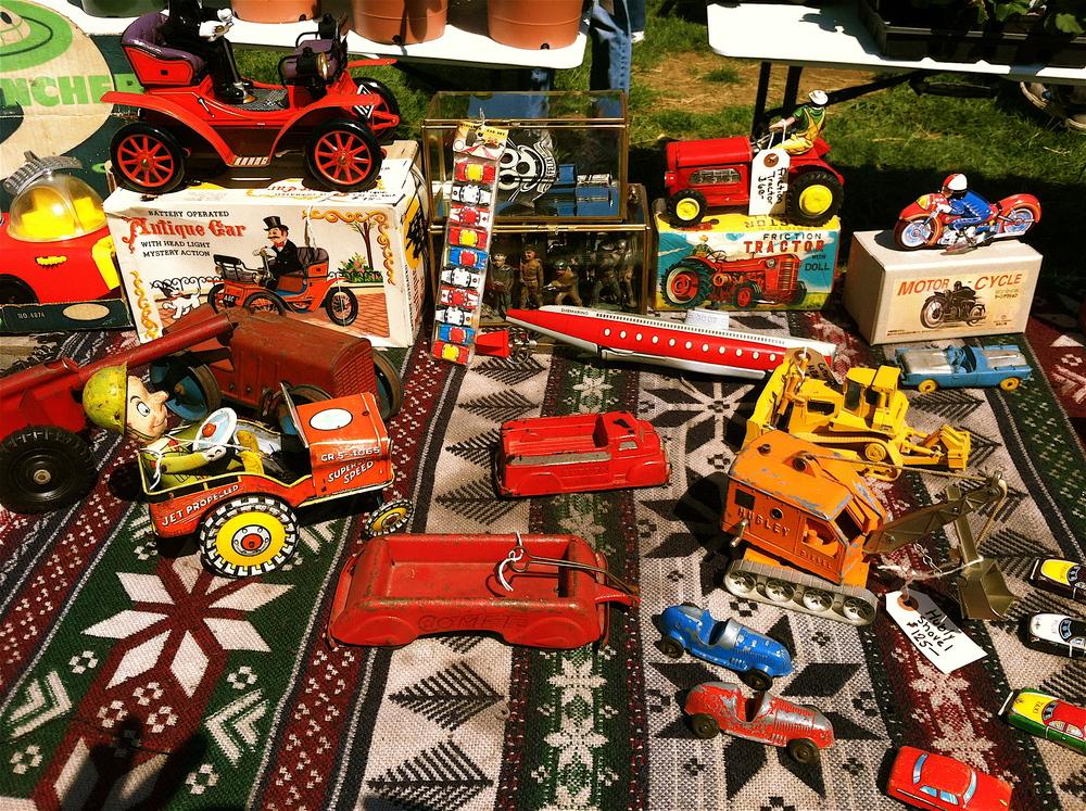 More flea market goods. The flea market covers several acres.