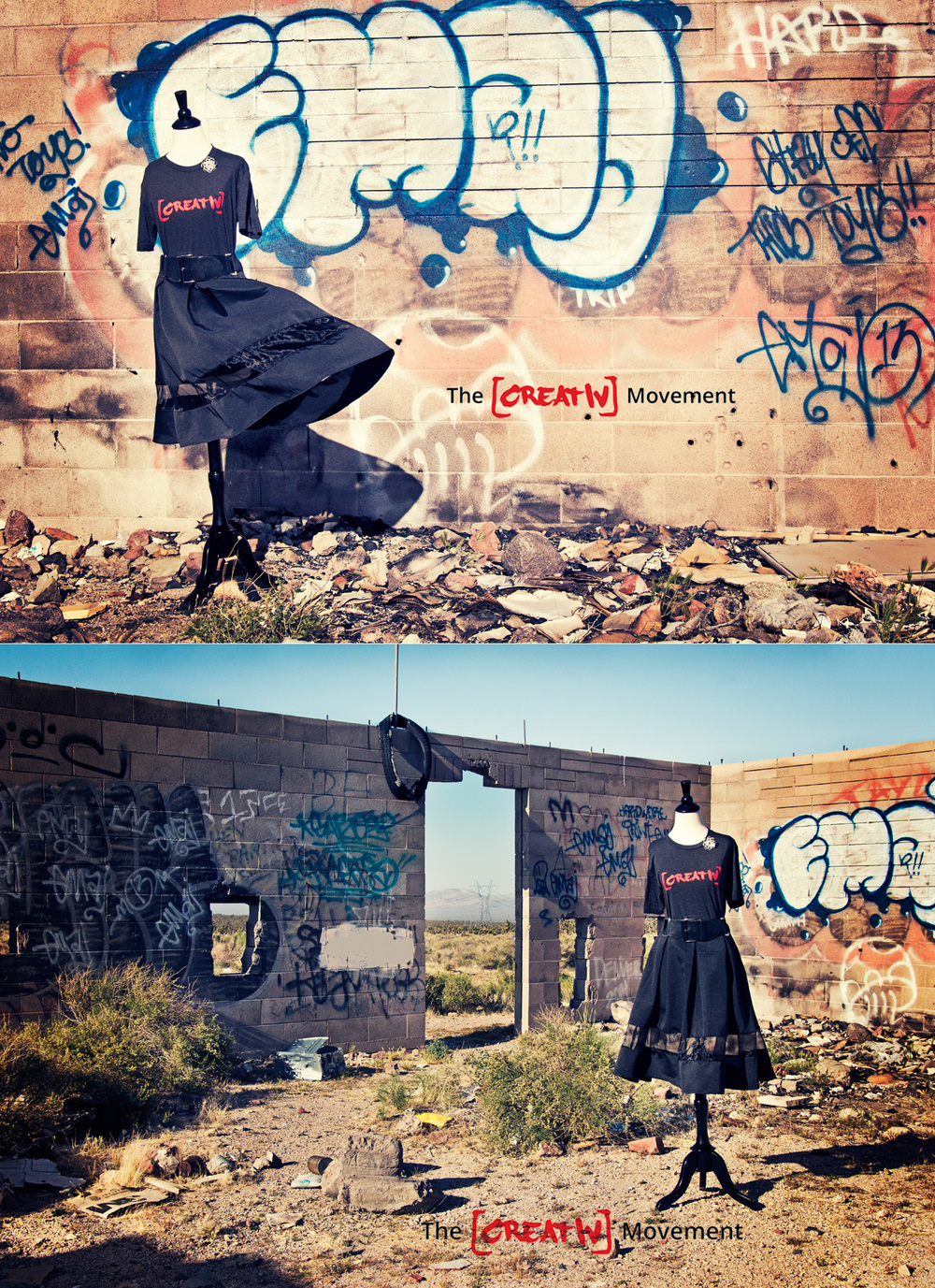 """I AM [CREATIV]""  These images were photographed in an abandoned building in the Mohave National Preserve in California  This mini Set was designed in dedication of The [CREATIV] Movement! They have helped me to realize that being an individual is an amazing thing! That I should love and be proud to share my voice, my vision, my creativity! To find out more about this Grassroots movement that was built by [CREATIVS] for [CREATIVS] go to:  http://www.creativ.com"
