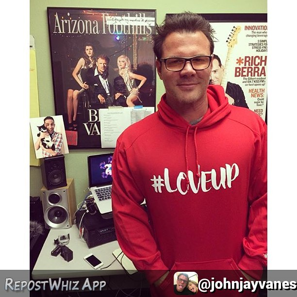 Look who made a cameo in @johnjayvanes' #loveUp photo today... @loveupapparel #AWESOME #catsofinstagram #cat