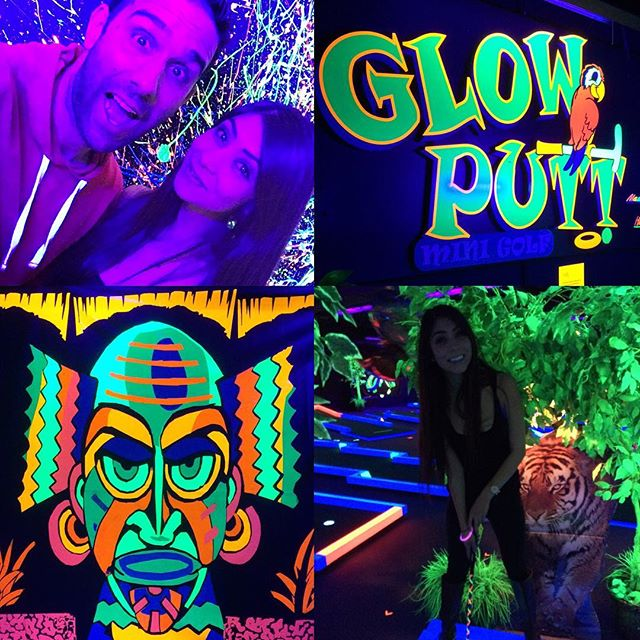 Had SO much fun at @glowputtaz with @ivanuhh last night! I haven't played #MiniGolf in years and certainly haven't played it like this before! #IMhooked #scottsdale #FUNstuff #datenight #glowinthedark