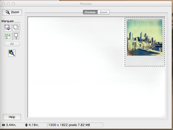 2) Select image frame