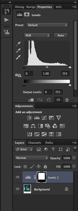 3) Add adjustment levels