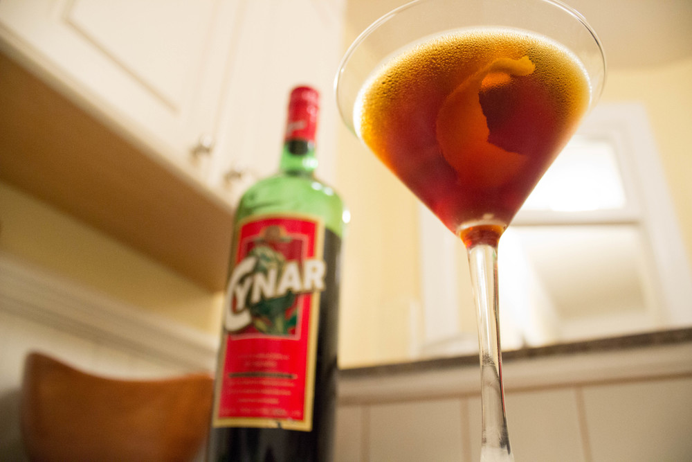 """Massimo""- Bourbon, Cynar, and Bitters"