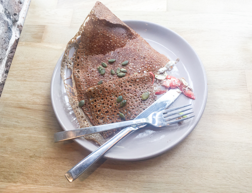 Buckwheat crepe from Bretons