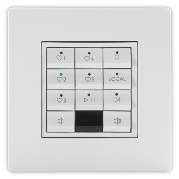 Full zone keypad with favourite source keys
