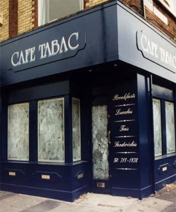 Exterior design of cafe