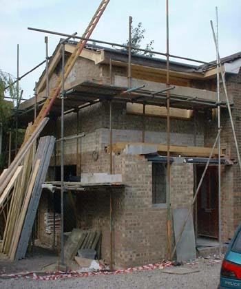 Roof underway