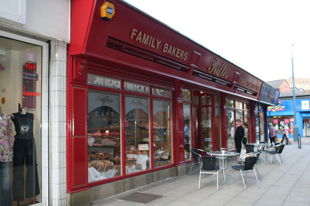 Exterior view of Trifles Bakery