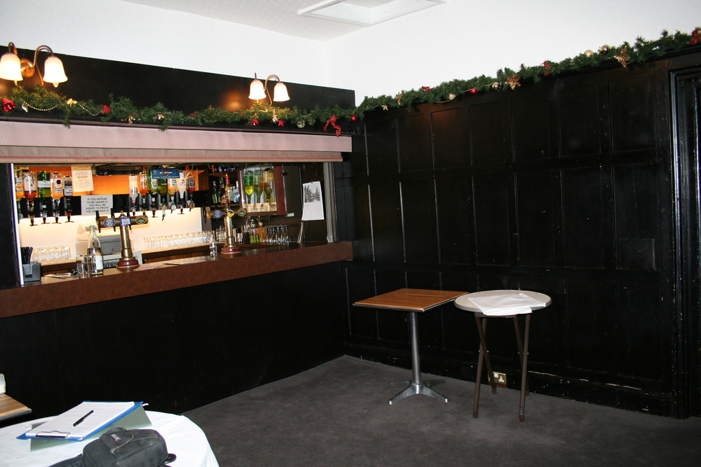 The Bar before we started work