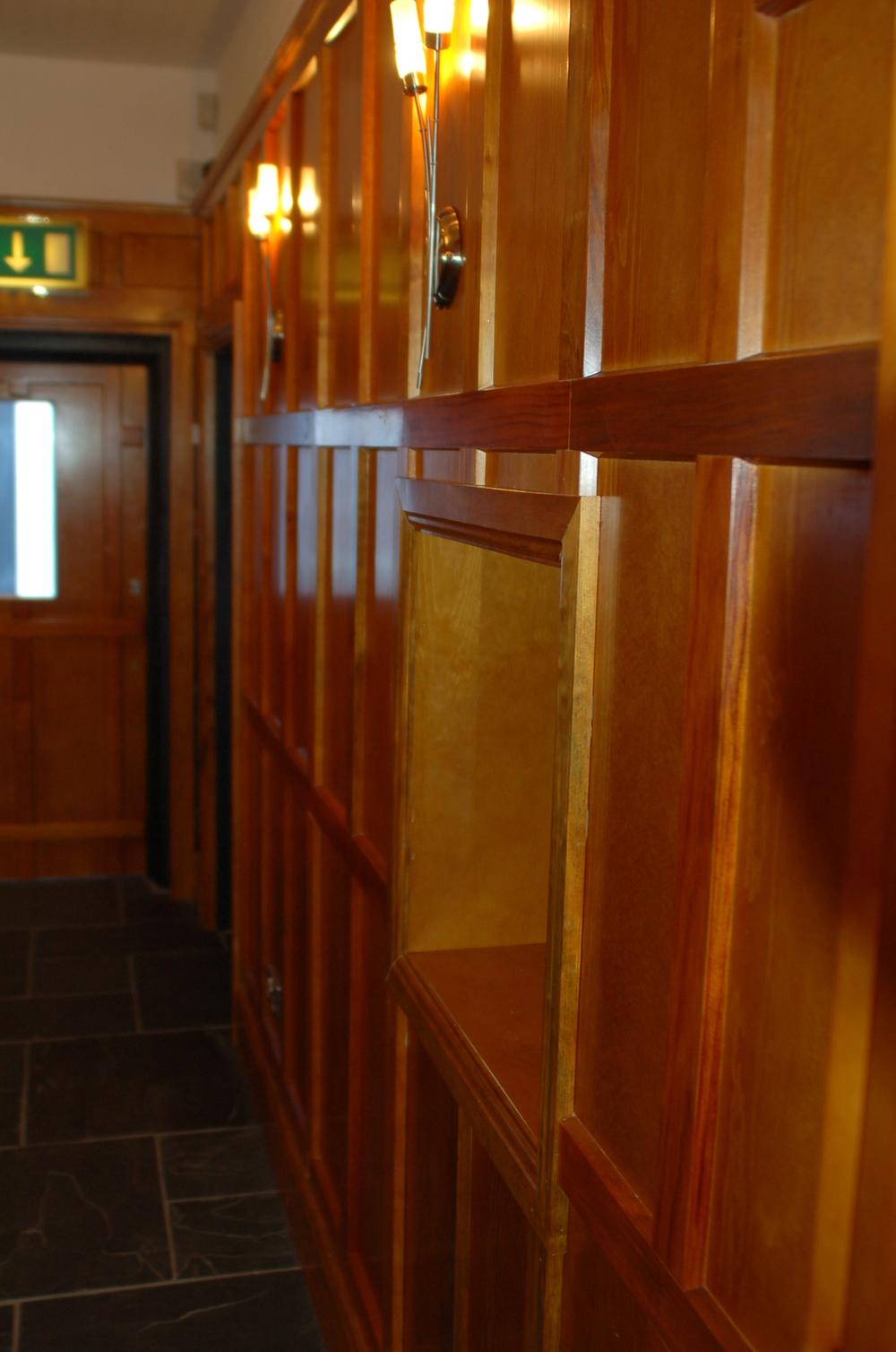 Wooden panel details