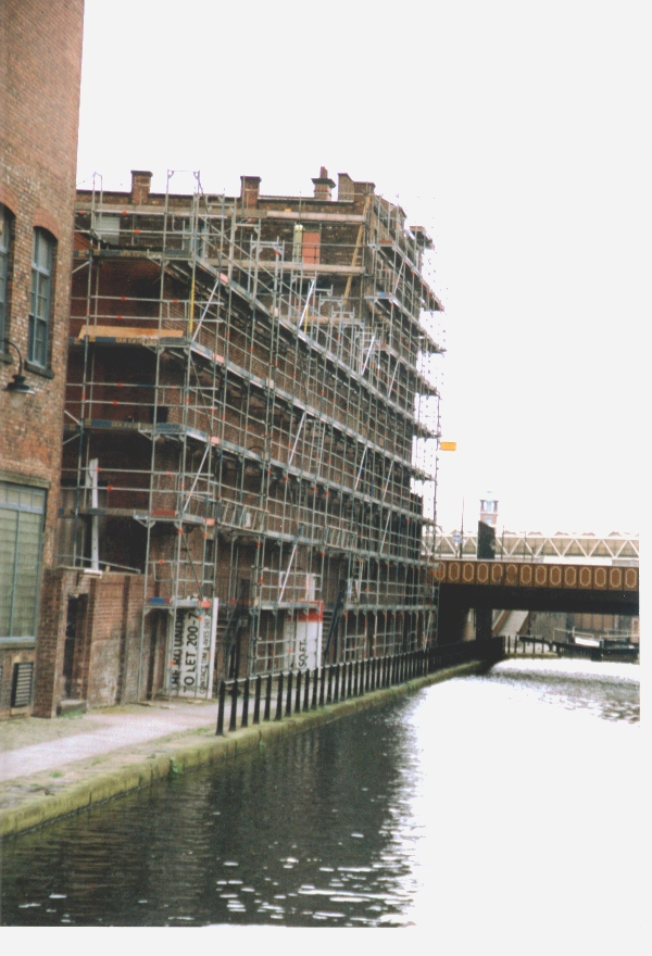 Scaffolding work at The Hacienda