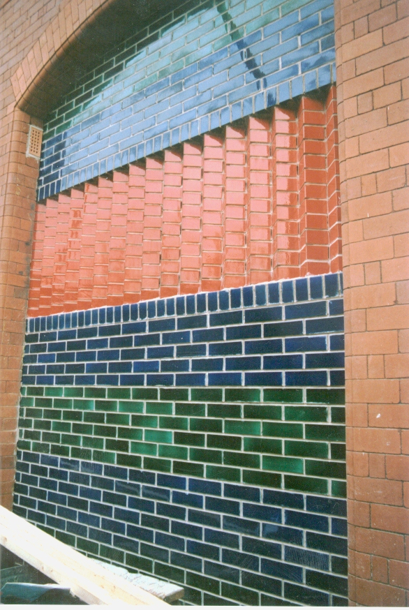 Colourful brick details