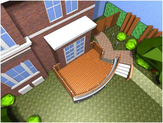 Computer rendering of building