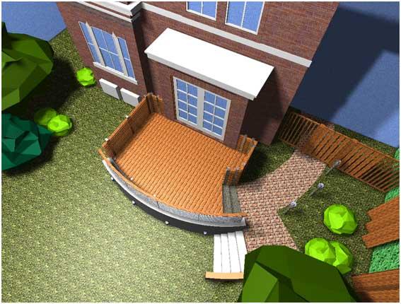 Ariel view of computer rendering of building