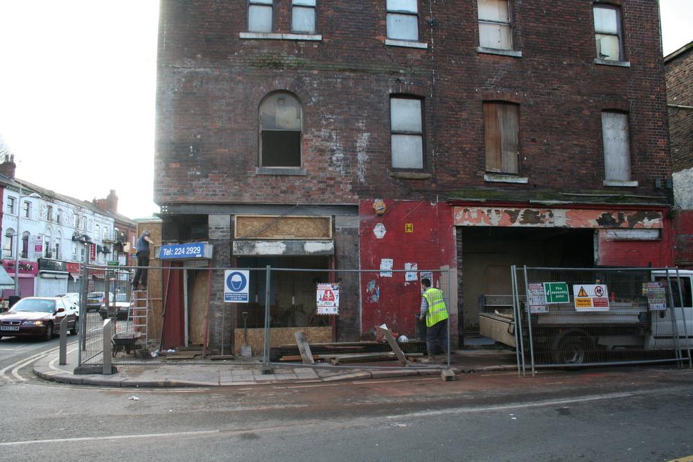 External view of derelict building