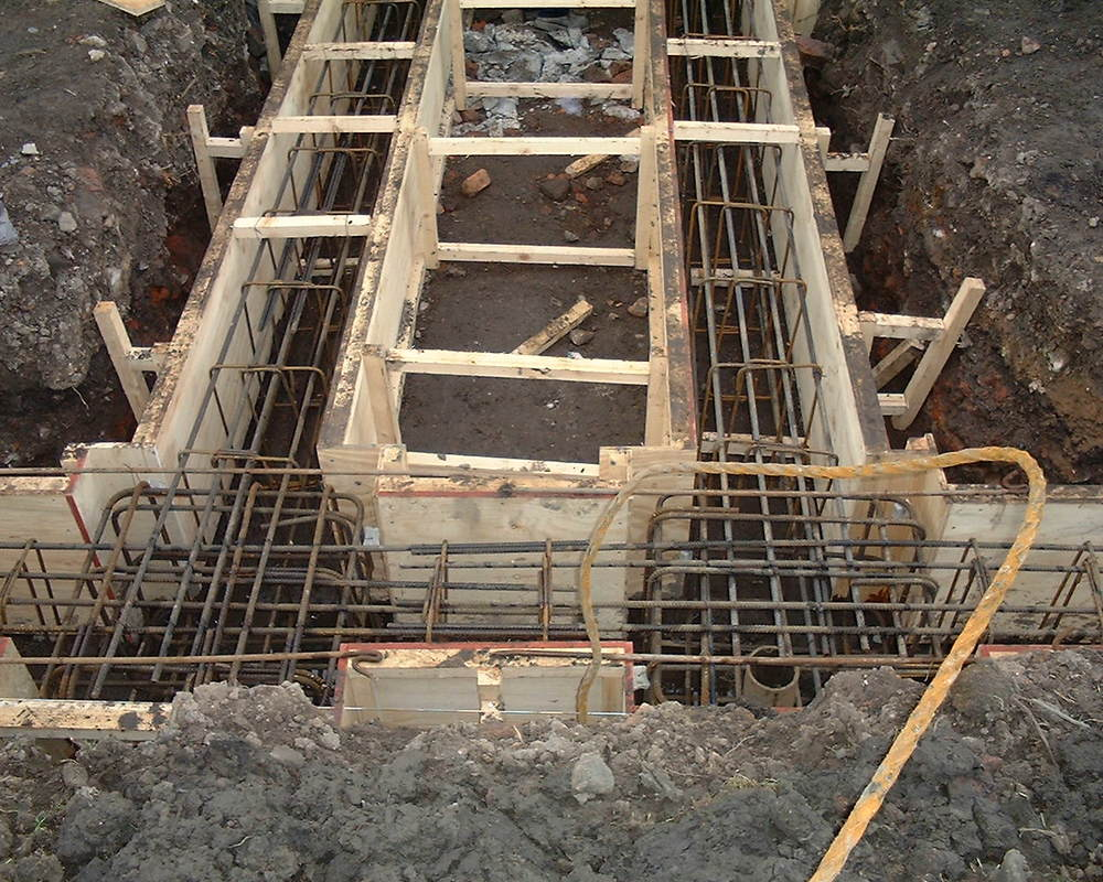 Preperation for reinforced concrete form work