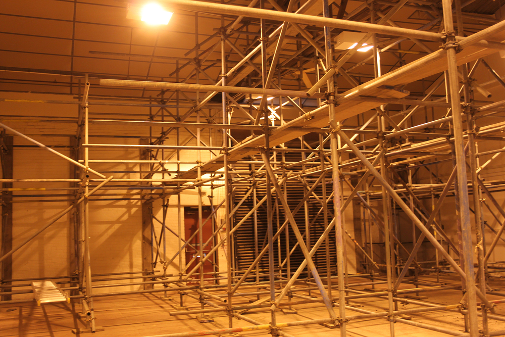 Internal scaffolding errection