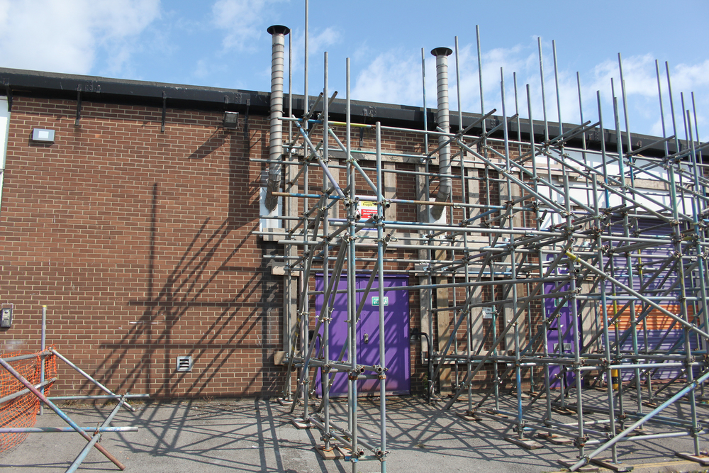 External scaffolding errection