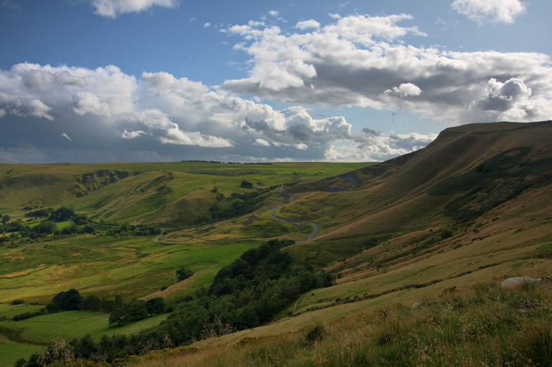 A view of   Mam Tor  , Peak District National Park