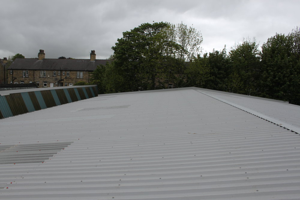 Corrugated roof completed