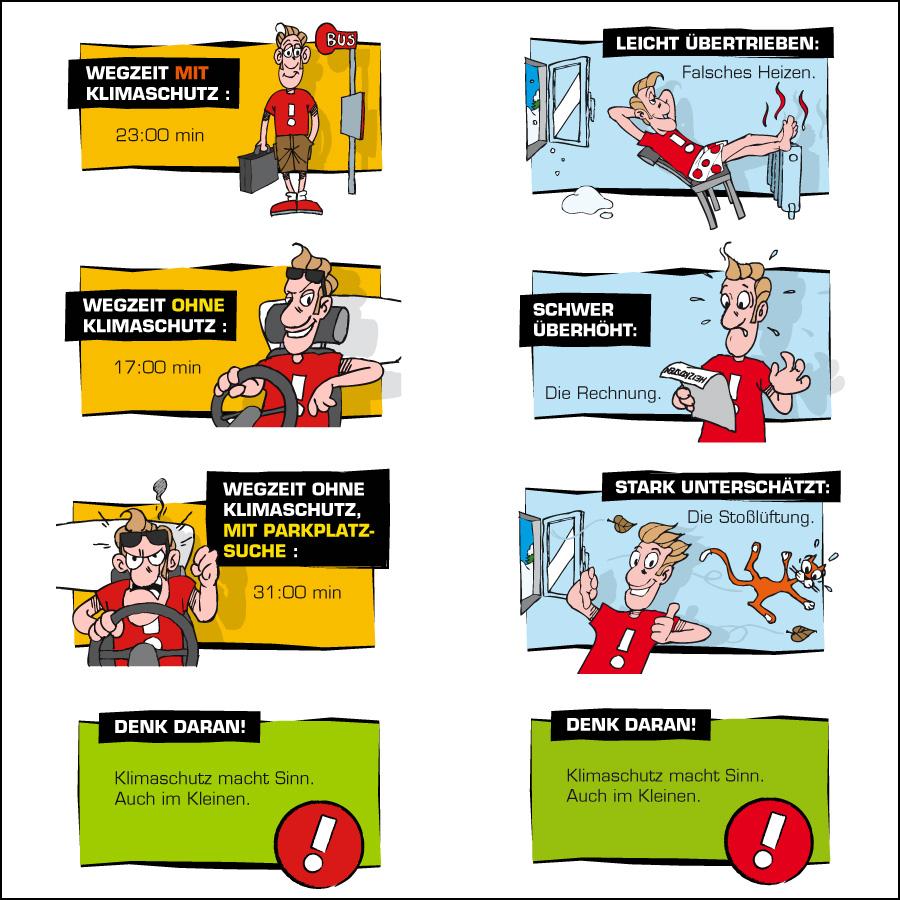 Info-Cartoons Umweltfragen- designed by harald