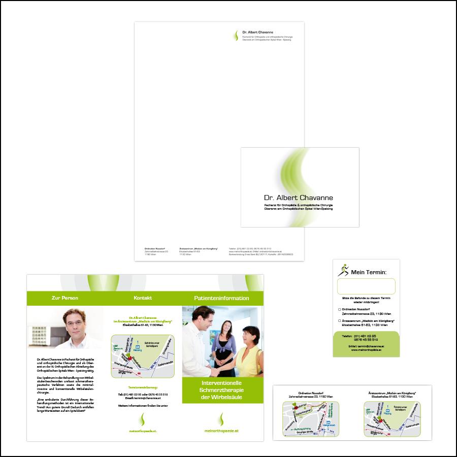 Gesamtauftritt für Orthopäden- designed by gabriele