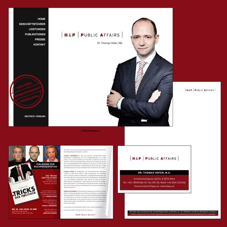 Gesamtauftritt Politikberater H&P Public Affairs - designed by harald