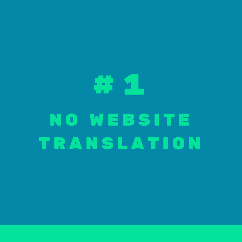 Mistake #1 when targeting international clients in real estate: having a website in English only