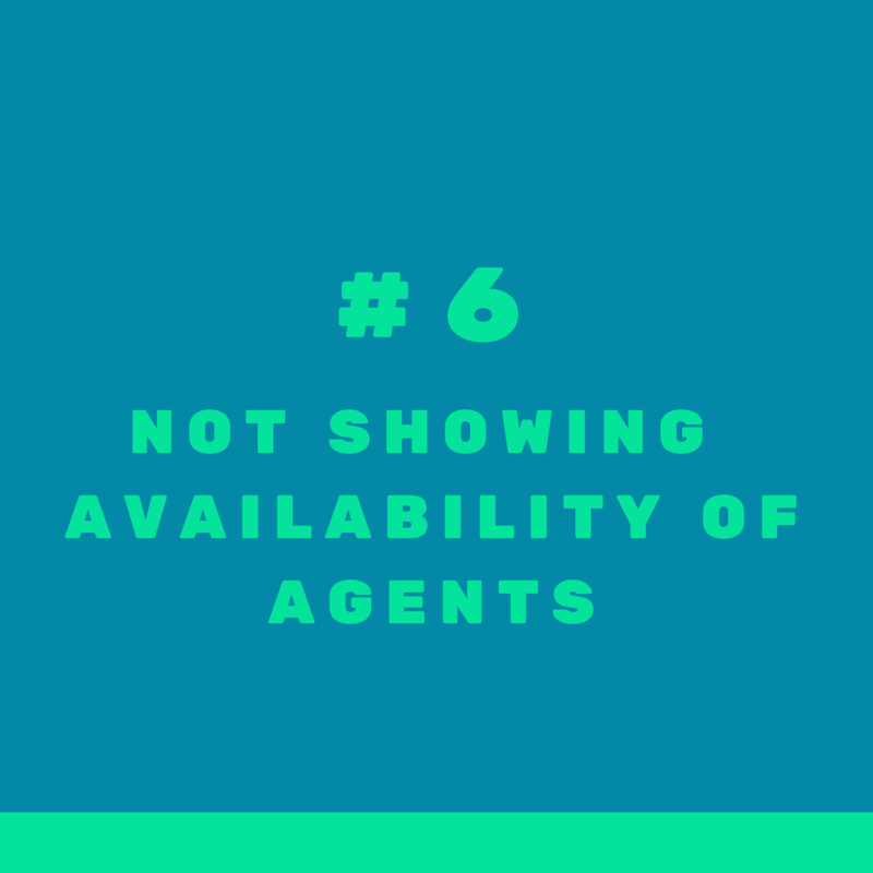 Mistake #6 when targeting international clients in real estate: not displaying prominently information about availability of agents speaking foreign languages
