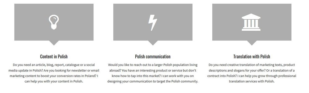 "SEO in action: ""Polish"" and ""Poland"" in service descriptions on  Marta Stelmaszak's website"
